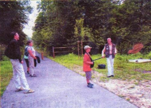 Sortie sur la Voie Verte entre Bernay & Broglie Août 2006 Exclusivité Le Moulin de Prey