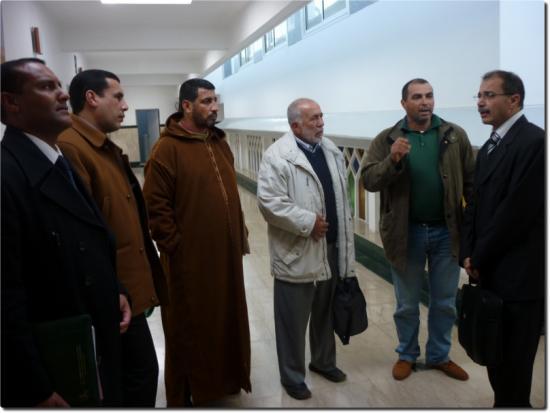 Mr Benabid (à droite) avec des membres des ass.