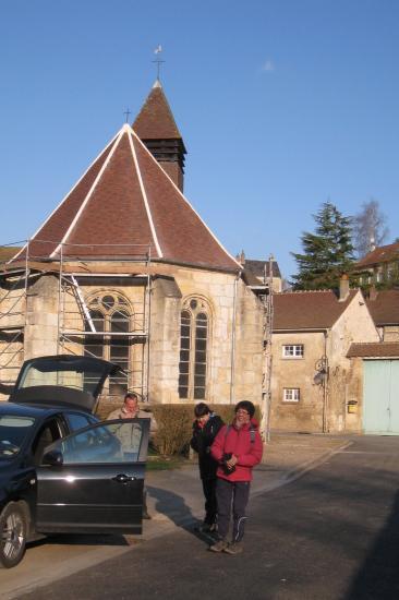 église de Theuville, chemin des fontaines,