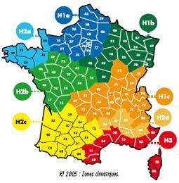 La rt 2012 carte - Zone climatique rt 2012 ...