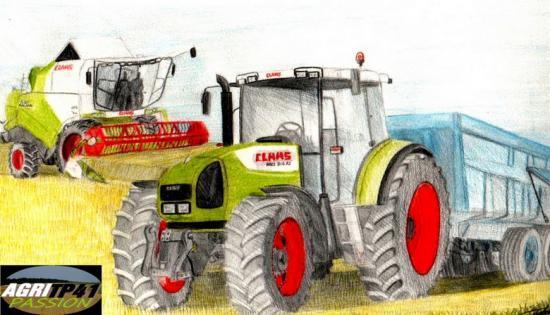 Pin le coloriage claas pour imprimer clique sur on pinterest - Coloriage tracteur claas ...