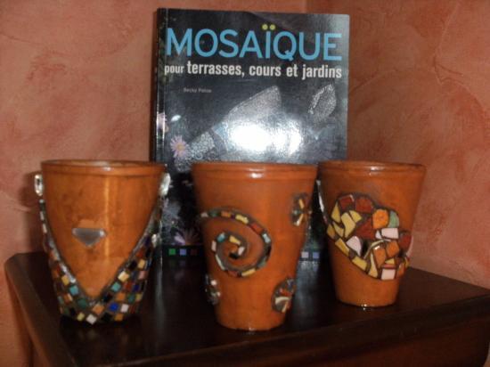 3 petits pots fleurs