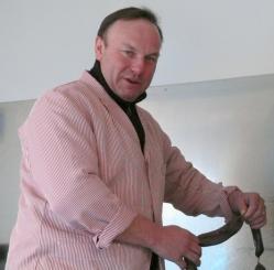 21ème foire au boudin à Brasles : Cyril aux fourneaux.