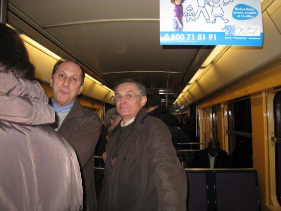 Bruno et Patrick dans le RER