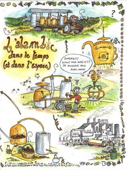 L'Alambic dans le temps (et dans l'espace…) 2 (textes : Matthieu Frécon, dessins : Cécilia Chauvet)