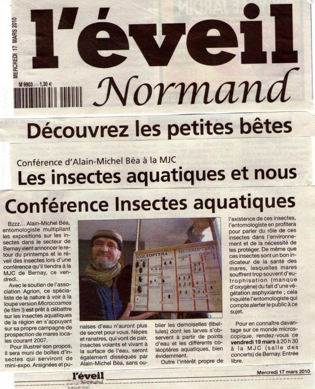 Article de l'Eveil Normand du 17 Mars 2010