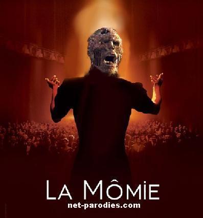 parodie fausse affiche film la mome la momie
