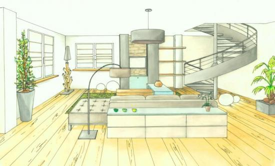 Dessiner une piece en perspective frontale solutions for Dessiner une maison