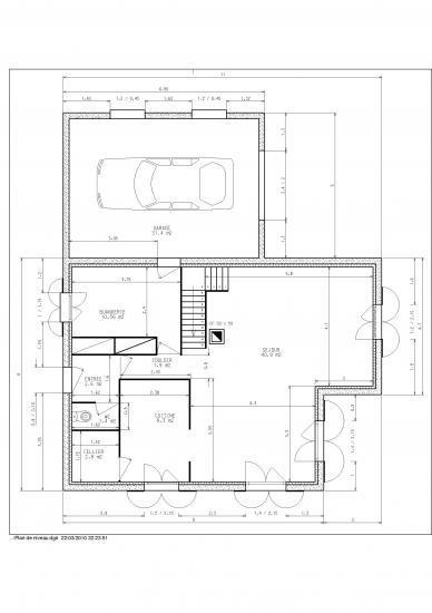 Plan de niveaux - Plan maison 2 niveaux ...