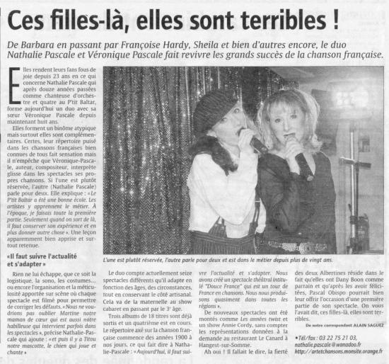 LE COURRIER PICARD 2008-RESIDENCE MONTIERE A AMIENS