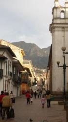 Bogota - calle en la Candelaria