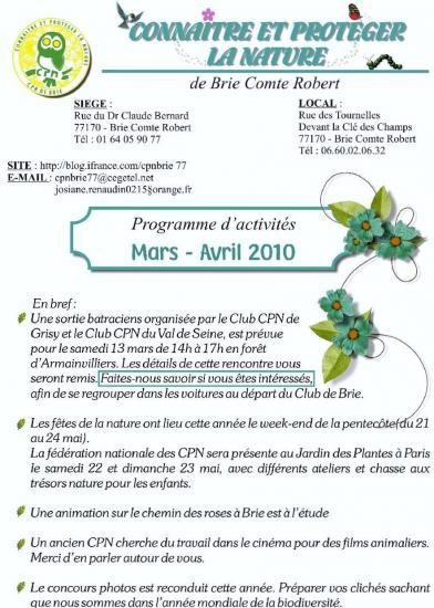 programme mars avril 2010 page 1
