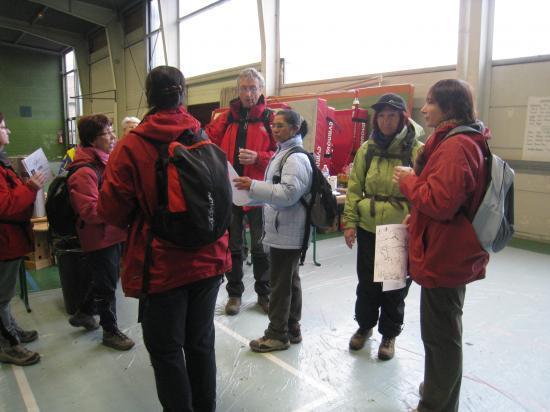 Randonneurs au Gymnase Bozon à Auvers sur Oise