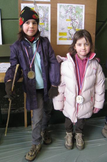 Charlotte et Juliette médaillées