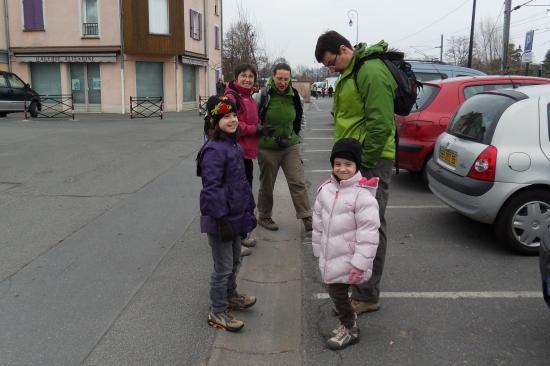 Richard, Cécile, les filles et moi