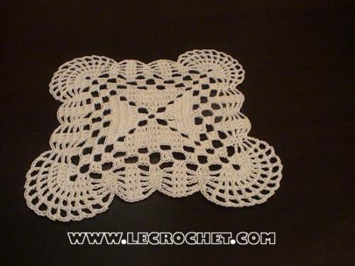 comment tricoter un napperon carre