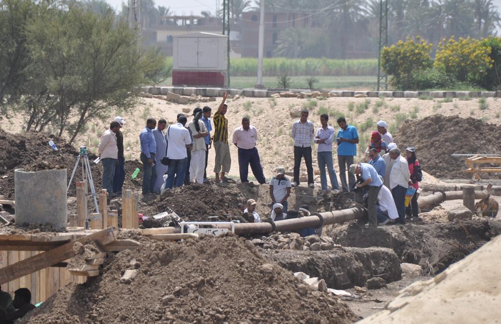 Mars 2010 - Temple d'Aménophis III - Découverte de Statues