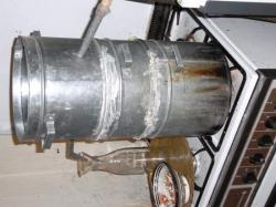 6. Le sytème prêt, avec joints de farine et eau de refroidissement