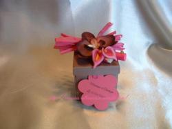 contenant à dragées orchidée