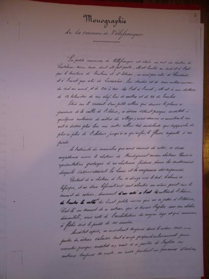 monographie de Villefranque ,page 1