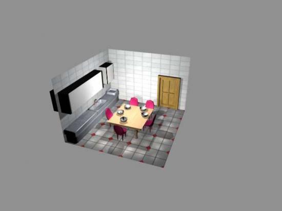 Mod lisation 3d for Modelisation cuisine 3d