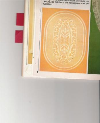 modèle nappe ovale au crochet