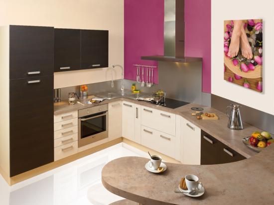 une cuisine intégrée pas chère, design, actuelle, sur mesure - Cuisine Sur Mesure Prix