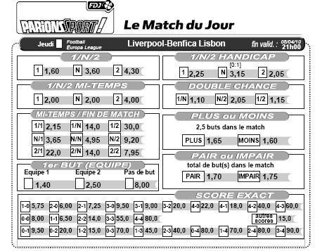 Parions sport - Grille parions sport pdf ...
