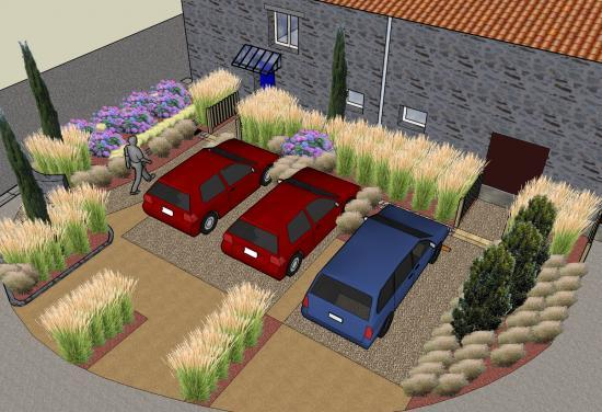 Am nagement d 39 un parking paysag for Amenagement parking jardin
