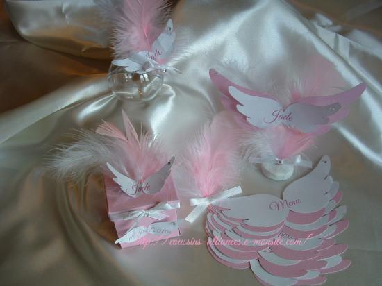 ensemble thème ailes d'ange
