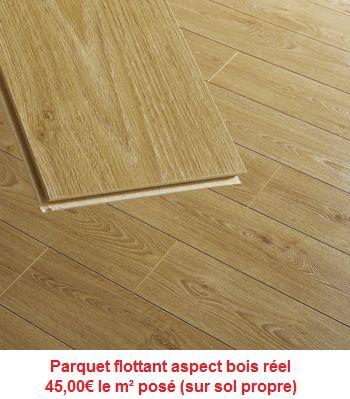 parquet flottant aspect bois. Black Bedroom Furniture Sets. Home Design Ideas