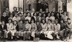 1953 Classe de 4 me.Cours complémentaire de FDL.Derniere classe mixte.