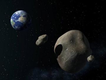 L'astéroïde 2005 YU55 vu par un artiste