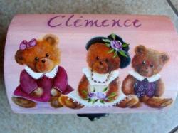 Les trois ours... (petit coffret en bois)