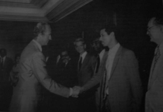 Avec le roi Juan Carlos d'Espagne