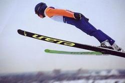 sauteur à ski en action