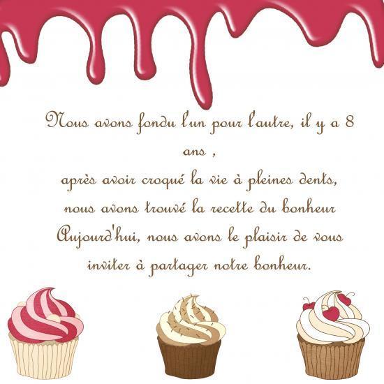 Fabuleux Faire part thème Gourmandise BB62