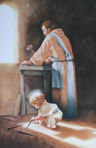 Prière à Saint Joseph pour trouver un travail JESUS-ENFANT-ET-ST-JOSEPH