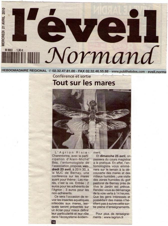 Article des Mares  Avril2010
