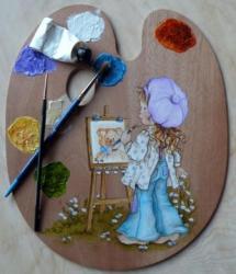 Palette et pinceaux...
