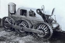 Ernst Meili built a spring wheeled vehicle