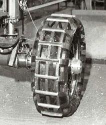 Robot wheels of Company VNII Transmash of St Petersburg.