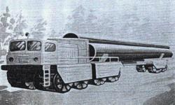 Russians studied in the 60s tire rolled pipeline carrier