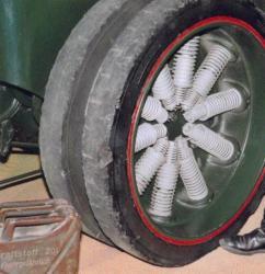 Spring wheel seen at Sinsheim Museum