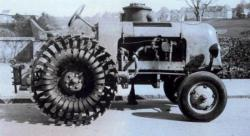 4 - Spring wheels in 1943 of the Meili tractors
