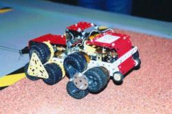 'Meccano' model of a star wheeled vehicle