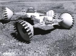 The Grumman with deformable conical wheels