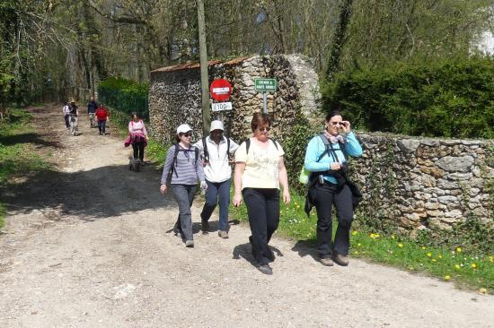 Anny, Annick, Paula,Maryse dans le hemin des Hautes-Souris