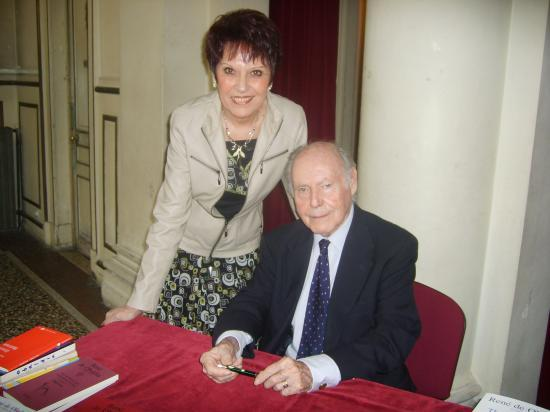 Nadine COSTA  et Monsieur l'Académicien René de OBALDIA