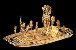 Figura de El Dorado, Museo de Oro (foto de internet) - Bogota